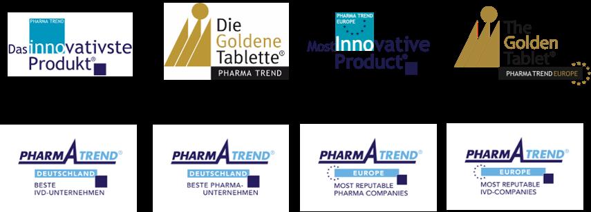 Pharma Trend goldene Tablette das innovativste Produkt Logos